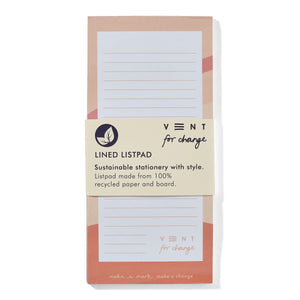 Vent For Change All Products Recycled Ideas List Pad - Pink