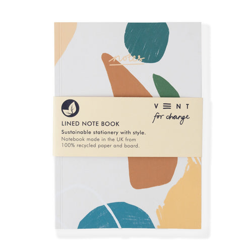 Vent For Change All Products Recycled NOTES Book - Lined Paper - Earth
