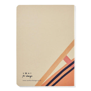 Vent For Change All Products Sustainable Soft Cover Ideas Sketchbook - Plain Paper - Pink
