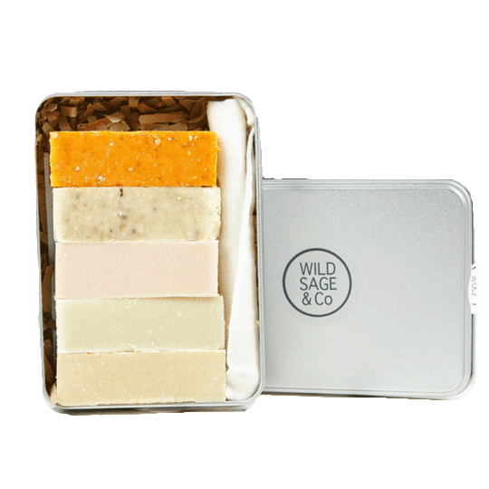 Wild Sage & Co All Products Mini Soap Set & Pouch