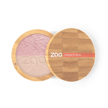 Load image into Gallery viewer, Zao All Products Bamboo Case Organic Duo Shine Up/Highlighter Powder
