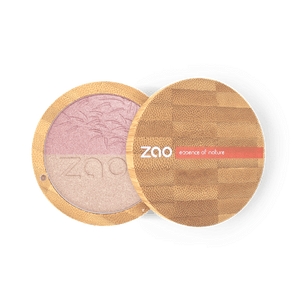 Zao All Products Bamboo Case Organic Duo Shine Up/Highlighter Powder