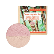 Load image into Gallery viewer, Zao All Products Refill Organic Duo Shine Up/Highlighter Powder