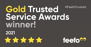 feefo gold trusted service award winner 2021 the kind store