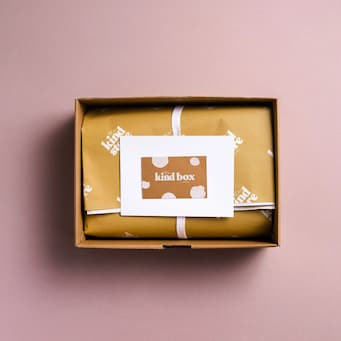 the kind box example packaging flatlay