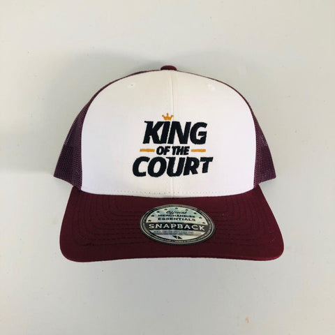 King of the Court trucker cap - Red
