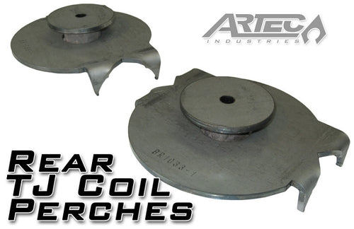 Jeep TJ Rear Coil Perches And Retainers 97-06 Wrangler TJ Pair 3.5 Inch Axle Tube Diameter Artec Industries