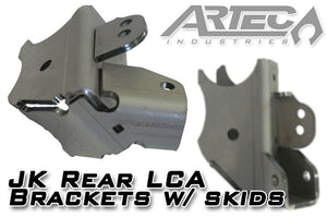 JK Rear LCA Brackets with Skids 3.5 Inch Diameter Artec Industries