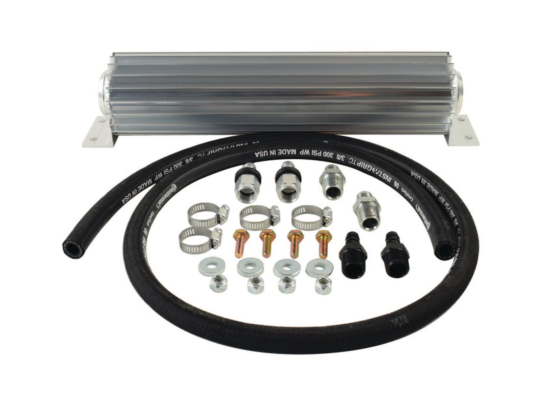Heat Sink Fluid Cooler Kit with 6AN Fittings PSC Performance Steering Components