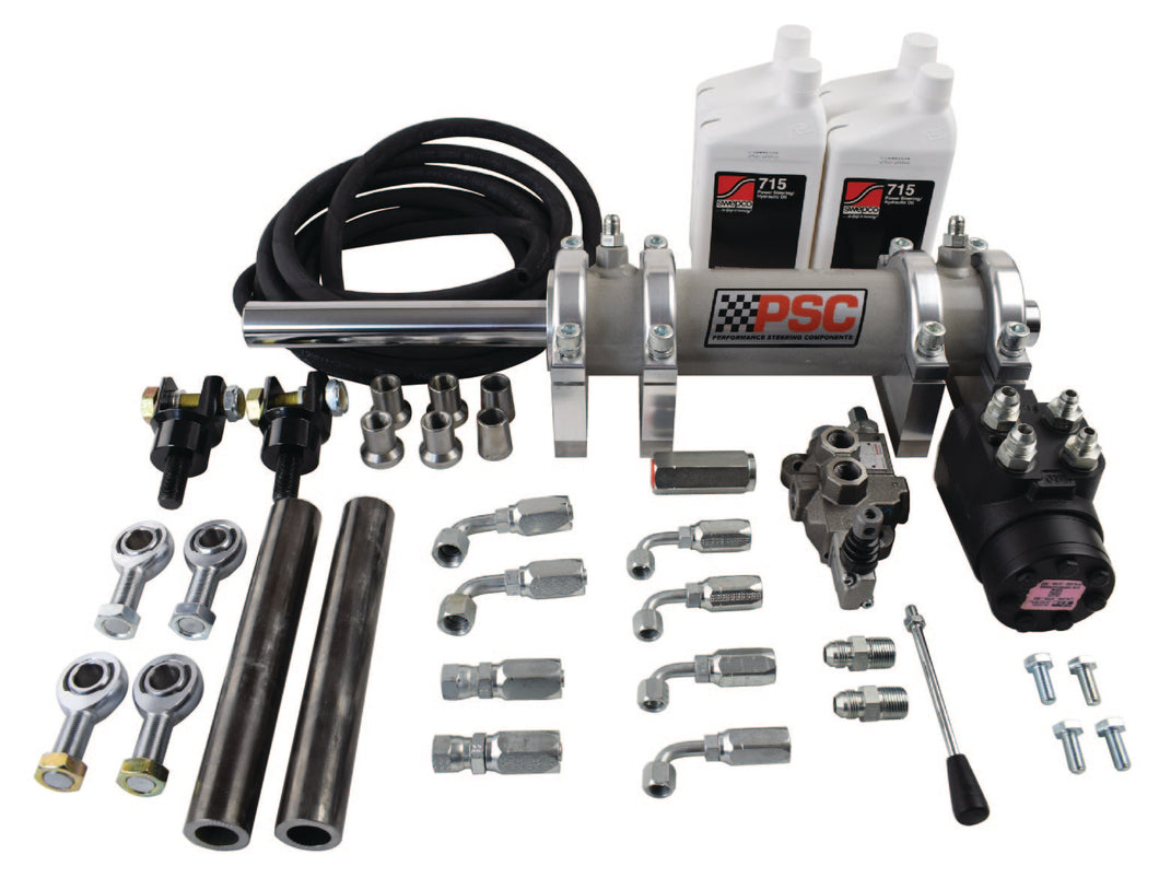 Full Hydraulic Steering Kit, Rear Steer with 2.5 Ton Rockwell Axle PSC Performance Steering Components