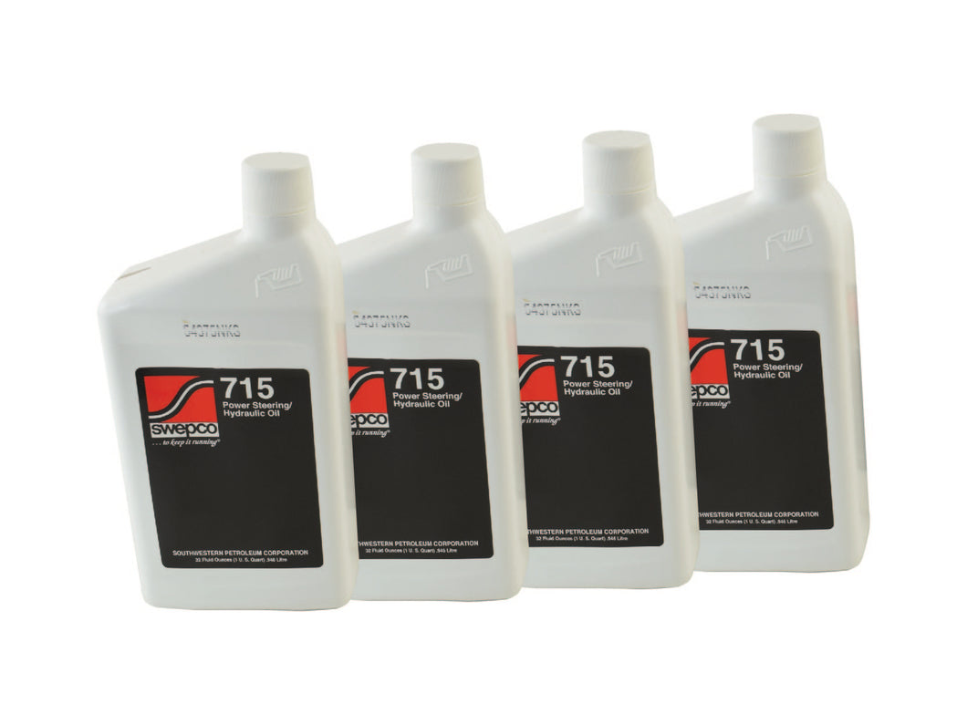 SWEPCO 715 Power Steering Fluid 4X 1 QT PSC Performance Steering Components