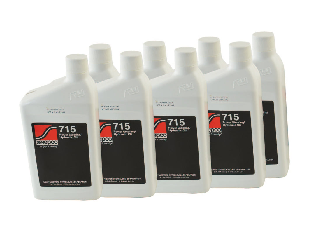 SWEPCO 715 Power Steering Fluid 8X 1 QT PSC Performance Steering Components