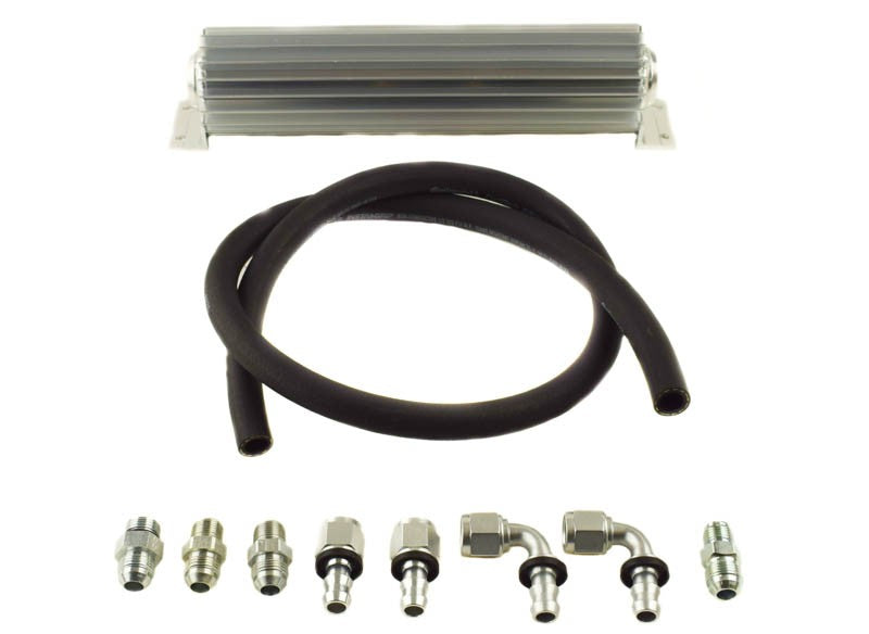 Upgraded #8 Return Line Hose Kit with Heat Sink Fluid Cooler Kit for 2012-18 Jeep JK PSC Performance Steering Components