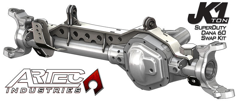 JK 1 Ton Superduty 05 Plus Front Dana 60 Swap Kit W/Currie Johnny Joints Artec Industries