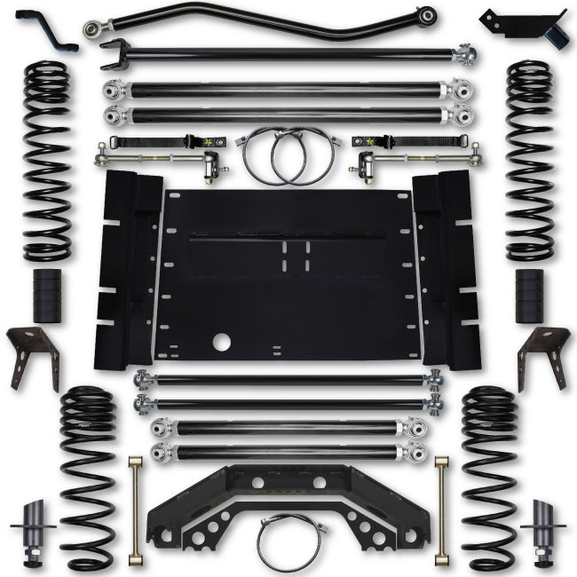 Rock Krawler LJ 4.5 Inch X Factor Long Arm 4 Inch Stretch Lift Kit 04-06 Wrangler Unlimited