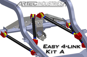 Easy 4 Link Kit A No Tube 7/8 Inch and 1.25 Inch Rod Ends Artec Industries