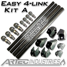 Load image into Gallery viewer, Easy 4 Link Kit A No Tube All 1.25 Inch Rod Ends Artec Industries