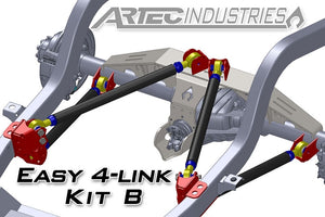 Easy 4 Link Kit B W/Tube All 1.25 Inch Rod Ends Artec Industries