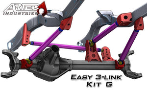 Easy 3 Link Kit G Adjustable Upper link Yes Outside Frame Centered Front Driver/Rear Passenger Artec Industries