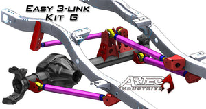 Easy 3 Link Kit G Adjustable Upper link Yes Outside Frame Centered Front Passenger/Rear Driver Artec Industries