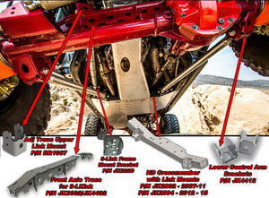 JK Front 3 Link Kit No Tube Dana 44 Truss No Crossmember Artec Industries