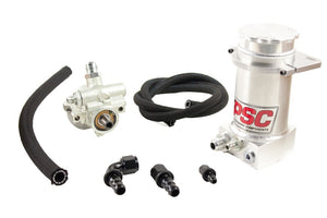 Pro Touring Type II Power Steering Pump and Brushed Aluminum Remote Reservoir Kit for Steering Gearbox Applications PSC Performance Steering Components