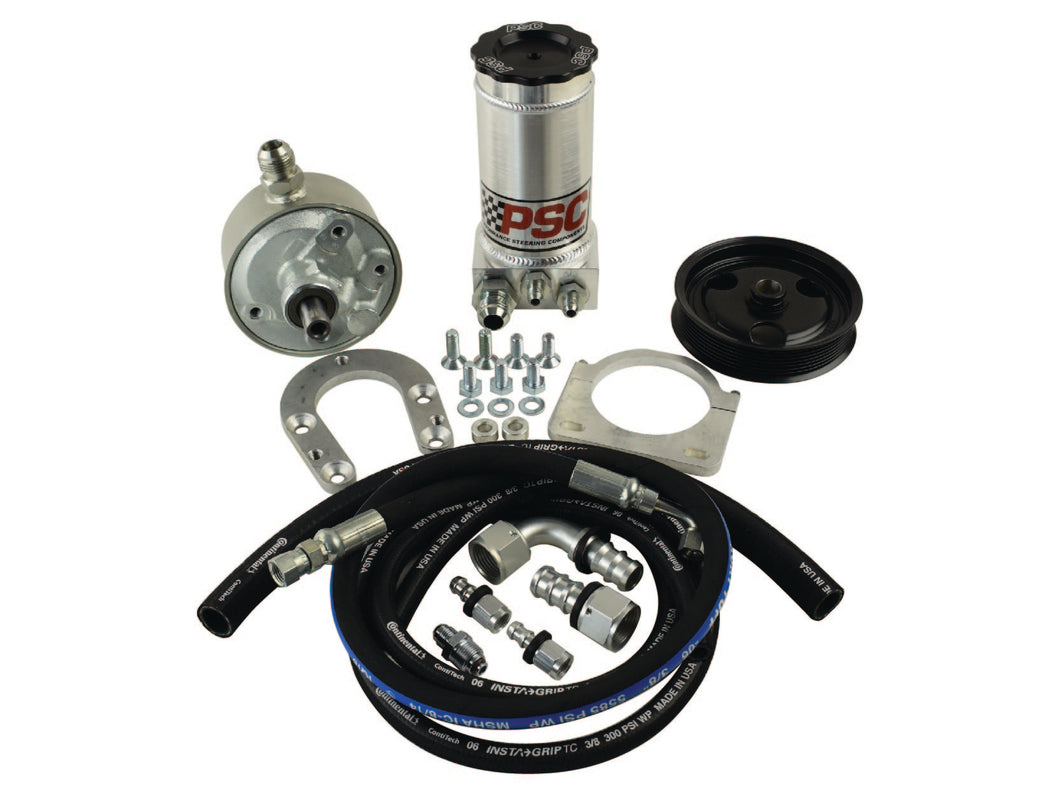 Remote-Fill Power Steering Pump and Remote Reservoir Kit, P Pump Conversion for 4/1999-2004 Ford F250/350 Super Duty 7.3L PSC Performance Steering Components
