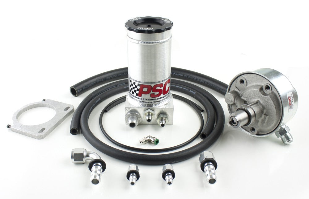 Remote-Fill Power Steering Pump and Remote Reservoir Kit, 1994-2002 Dodge Cummins PSC Performance Steering Components