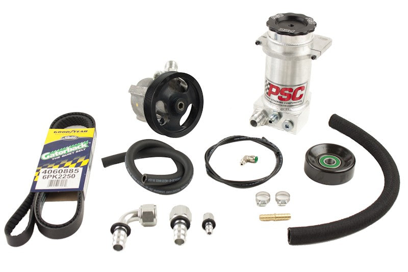 Power Steering Pump and Remote Reservoir Kit, 2007-11 Jeep JK 3.8L EGH PSC Performance Steering Components