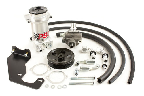 Power Steering Pump and Remote Reservoir Kit, 2007-18 Jeep JK with HEMI Engine Conversion (6 Rib Pulley) PSC Performance Steering Components