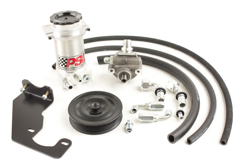 Power Steering Pump and Remote Reservoir Kit, 2007-18 Jeep JK with HEMI Engine Conversion (7 Rib Pulley) PSC Performance Steering Components