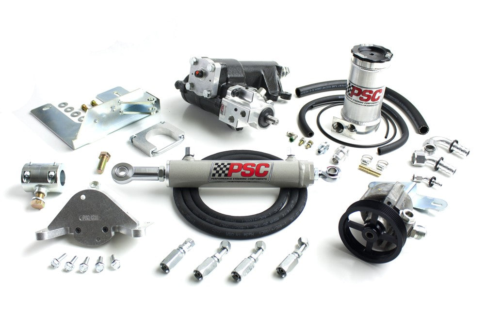 Cylinder Assist Steering Kit, 2012-18 Jeep JK 4 Door 3.6L Pentastar OEM Axles PSC Performance Steering Components