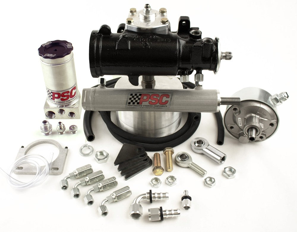 Cylinder Assist Steering Kit, 1970-76 GM 4WD with Crossover Steering Kit PSC Performance Steering Components
