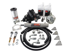Cylinder Assist Steering Kit, 1988-1999.5 GM 4WD with Straight Axle Conversion PSC Performance Steering Components