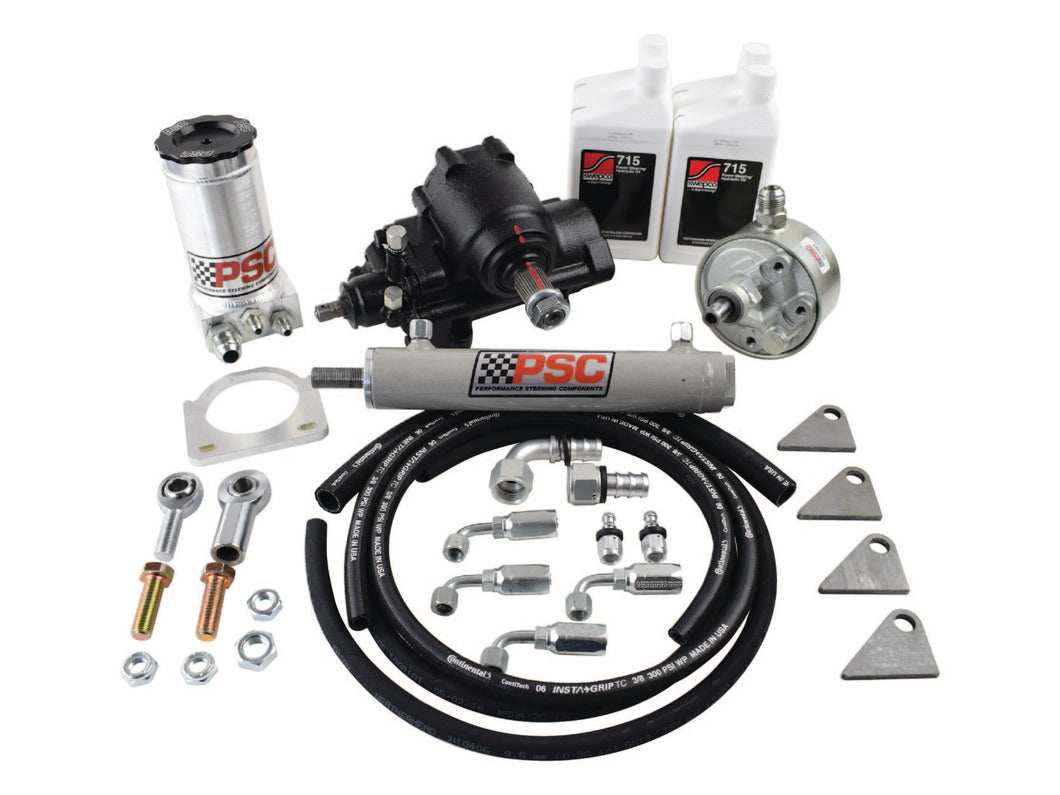 Cylinder Assist Steering Kit, 1999.5-2006.5 GM 4WD with Straight Axle Conversion PSC Performance Steering Components