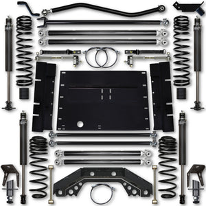 Rock Krawler TJ 3.5 Inch X Factor 5 Inch Stretch Stg 1 Long Arm Lift Kit w/ 2.25 RRD Shocks 03-06 Wrangler