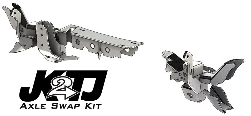 JK2TJ Front Axle Swap Kit Dana 44 Rubicon LCA Brackets W/CAM Slot Artec Industries