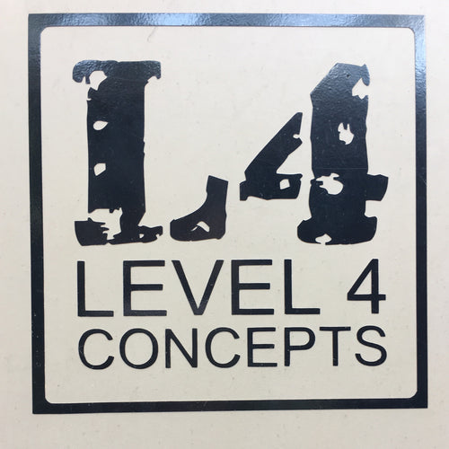 "4"" Square Level 4 Vinyl Decal"