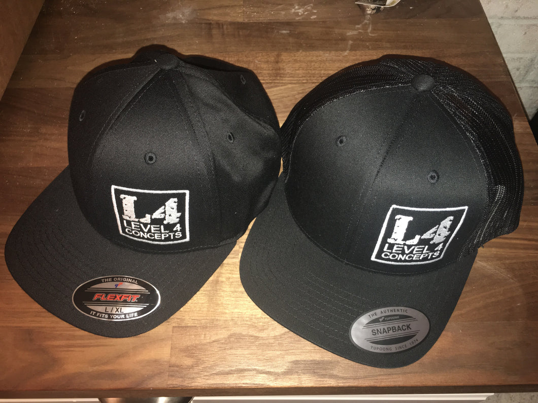 Level 4 Concepts Snap Back Trucker Style Hats