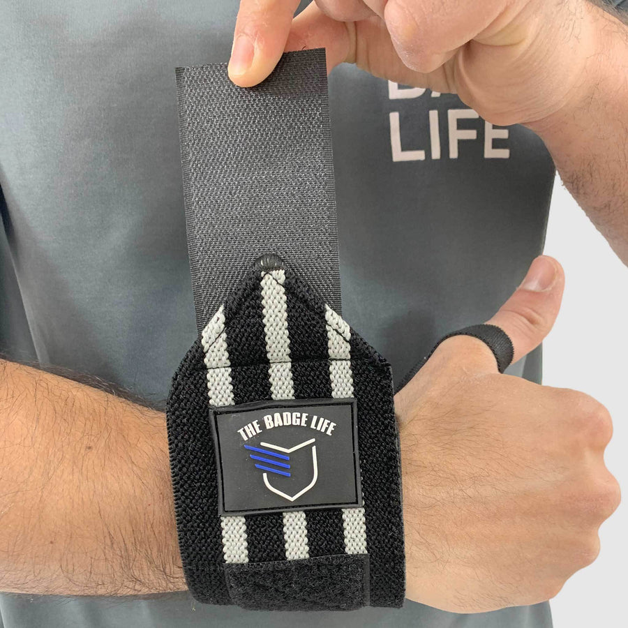 Heavy Duty Wrist Wraps Grey Set - The Badge Life