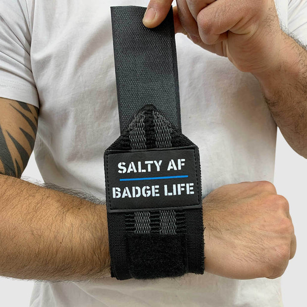 Salty AF! Heavy Duty Wrist Wraps Set - The Badge Life