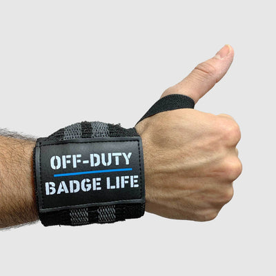 Off Duty Heavy Duty Wrist Wraps Set - The Badge Life