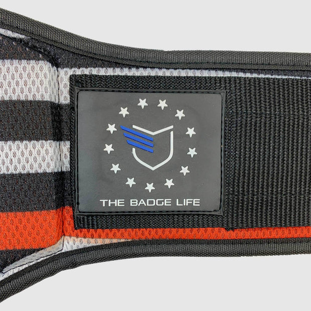 Thin Red Line Flag Weight Lifting Belt - The Badge Life