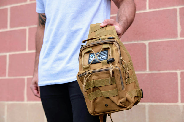 "Khaki MOLLE ""Go"" Bag - The Badge Life"