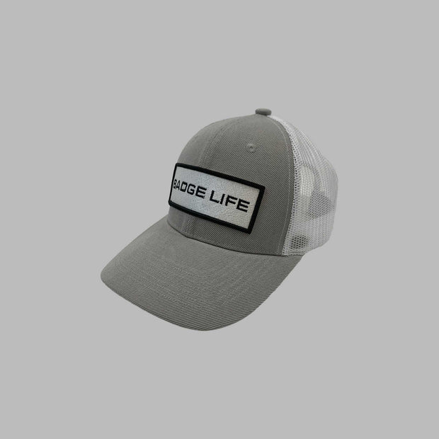 NEW! Badge Life Trucker Hat Grey - The Badge Life