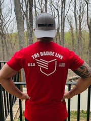 Grey Badge Life Dad Hat - The Badge Life