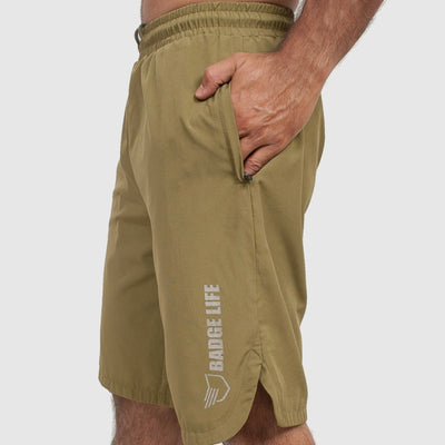 Athletic Shorts - Green - The Badge Life