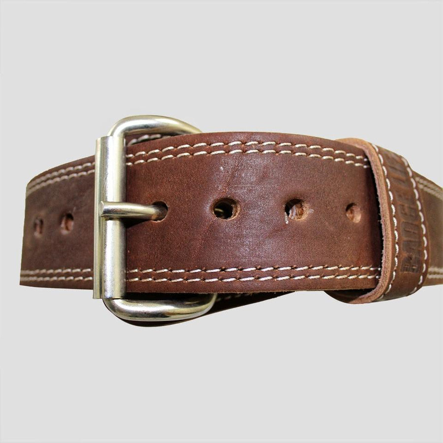 NEW! Genuine Buffalo Leather Weightlifting Belt - The Badge Life