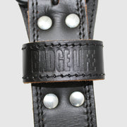 NEW! Genuine Buffalo Leather Weightlifting Black Belt - The Badge Life
