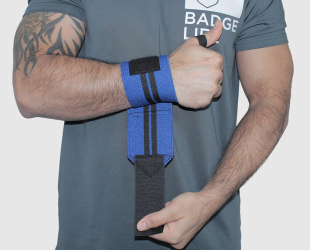 Lift Heavy. Shoot Guns. Heavy Duty Wrist Wraps Set - The Badge Life